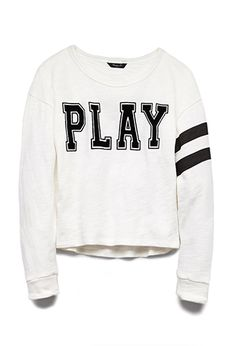 Let's Play Varsity Top (Kids) Forever 21 Outfits, Forever 21 Shirts, Forever 21 Sweater, Forever 21 Kids, School Outfits, Kids Outfits, Cute Outfits, Trendy Fashion, Kids Fashion