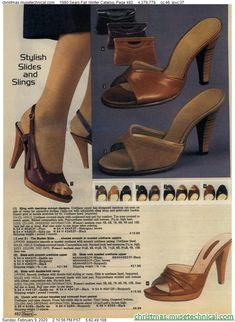 1980 Sears Fall Winter Catalog, Page 482 - Christmas Catalogs & Holiday Wishbooks Retro Heels, Vintage High Heels, Sexy High Heels, Vintage Shoes, Vintage Outfits, Vintage Clothing, 1980s Shoes, Shoes Ads, 80s Fashion