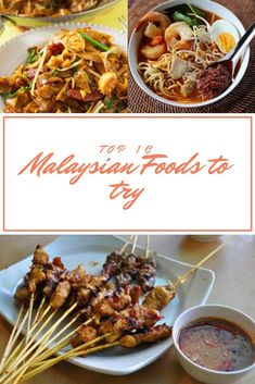 Malaysia - Top 10 Malaysian Foods To Try - The Neverending Honeymoon Water Spinach, Spinach And Cheese, Malaysian Cuisine, Malaysian Food, Egg Noodle Stir Fry, Chinese Takeaway, Spicy Soup, Nasi Lemak, National Dish