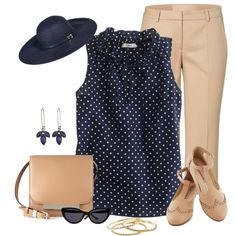 """""""More Navy & Taupe"""" by justjules2332 on Polyvore"""