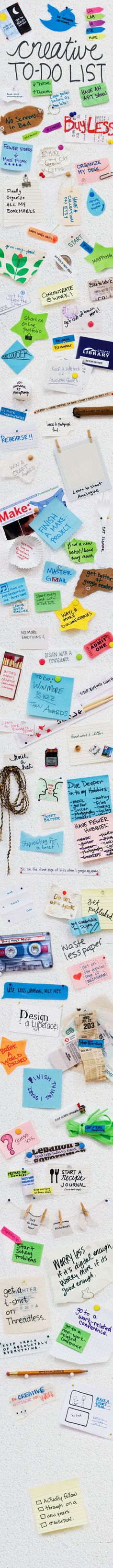 "Designer's ""Resolutions"" graphic - creative to-do list"
