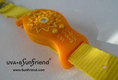 UVA B SunFriend® Activity Monitor Orange Citrus