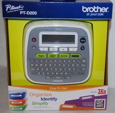 Brother P-Touch PT-D200 Electronic Labeling System NEW in box Labeler #Brother