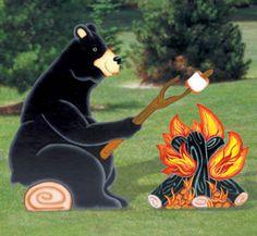 Campfire Bear Woodcrafting Pattern