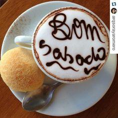 Bom dia e uma excelente xícara de café. Fotinha tirada pelos nossos queridos clientes. #Repost @arqsorayaromero with @repostapp ・・・ Café com a prima ☀️ (em Polos Pães e Doces)