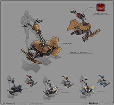 SWTOR Concept Art - Speeder // by Ryan Dening