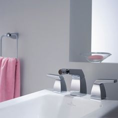 SQUARE Vogue tub fittings - #sleek faucets with an #ArtDeco inspiration | Villeroy & boch