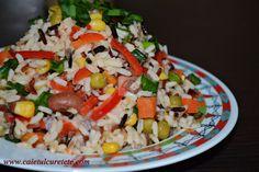 RETETE DE POST - CAIETUL CU RETETE Romanian Food, Romanian Recipes, Cobb Salad, Grains, Cooking Recipes, Rice, Women Life, Blog, Diet