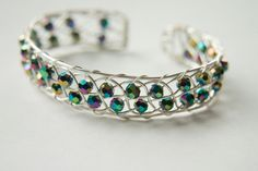Disco Weaved Cuff Gifts under 30 by mlwdesigns on Etsy, $29.00