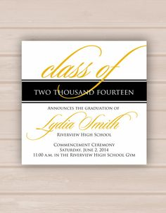 Printable Graduation Invitation on Etsy, $20.00