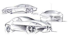 Touring Superleggera Disco Volante, 2012 - Design Sketches