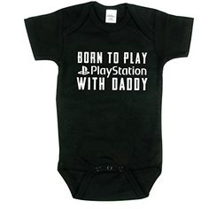Funny Baby Onesie, Born to Play Playstation on Black, Size 0-3 mo Nursery Decals and More http://www.amazon.com/dp/B00VU06ZXU/ref=cm_sw_r_pi_dp_pga3vb1249YKB