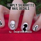 Jane Austen nail decals....LOVE!