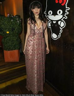 Pretty petal: Daisy Lowe was back to her fashionable best as she hosted the Came to Play e...