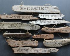Custom Driftwood Sign - wood burned, engraved message of your choice