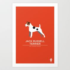 Jack Russell Terrier Art Print by bethany ng - $15.00