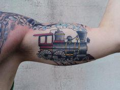 Vintage train locomotive vintage pinterest best for Sacred addition tattoo east bridgewater ma