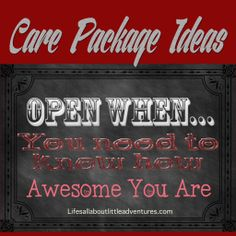 Open When... You need to be reminded how awesome you are. - Life's All About Little Adventures