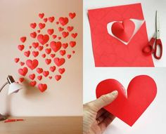 Déco murale romantique avec des cœurs en 3D