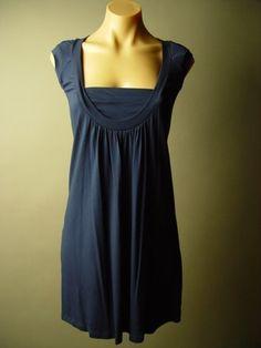 SALE  Navy Blue Jersey Knit A Line Dress  Blair by erinleighheart, $49.00