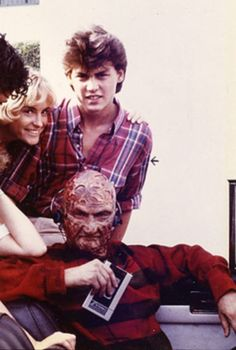 Young Johnny Depp from A Nightmare on Elm Street - Robert Englund - Fred Krueger - Freddy