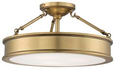 View the Minka Lavery 4177-249 3 Light Semi-Flush Ceiling Fixture from the Harbour Point Collection at LightingDirect.com.