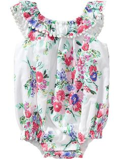 Floral Bubble Rompers for Baby Product Image