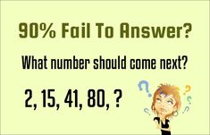 90% Fail To Answer? What number should come next? 2, 15, 41, 80, ? _ _ _ _ _ _ _ _ _ _ _ _ _ _ _ _ _ _ _ _ _ _ _ _ _ _ _ _ _ _