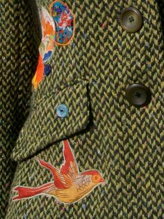 Customised Upcycled Modern Green Tweed  Women's by Queenieandted, £85.00