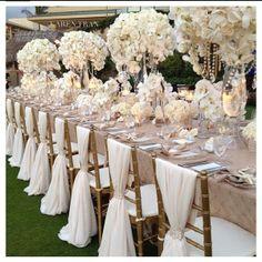 all white wedding decor All White Wedding, Perfect Wedding, Dream Wedding, Trendy Wedding, White Weddings, Taupe Wedding, Wedding Vintage, Indian Weddings, Intimate Weddings
