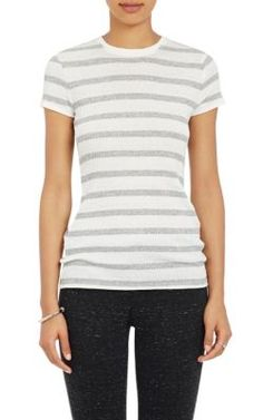 Striped Cap Sleeve Tee in Gray ATM Anthony Thomas Melillo Cheap Sale Fashionable HN3hZ