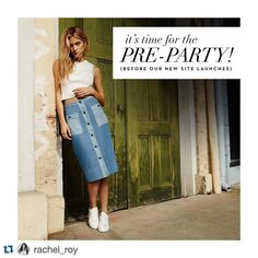 I CANT WAIT FOR THE NEW SITE! #Repost @rachel_roy  Countdown is on to the new rachelroy.com!  Join the party & enter to win a $500 gift card to shop up a storm on the new site  one hand picked piece by Rachel herself! Click link in bio to enter. Entries close Feb 14th. #RachelRachelRoy #Contest #Win