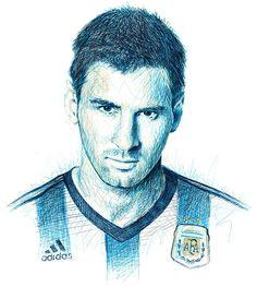 Scribble Portraits: Football Stars
