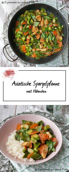 Asiatische Spargelpfanne mit Hähnchen | Spargel | Kochen | Rezept