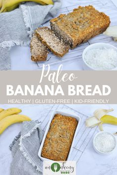 The best tasting paleo banana bread is ready to be made for your next breakfast.  A healthy banana bread recipe made gluten-free, dairy-free,