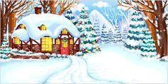 animated christmas scenes   Christmas Landscapes Animated Gifs