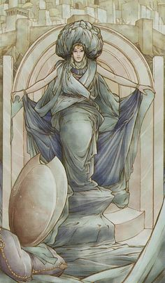 III. TheEmpress - Tarot of the Holy Grail by Lorenzo Tesio, Stefano Palumbo