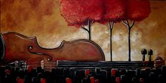 Music and Nature in Harmony Painting  - Music and Nature in Harmony Fine Art Print