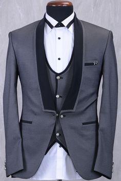 Grey & Black Italian Classic Suit-ST805 image