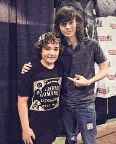 Chandler RIggs and some awesome kid with a MCR shirt on. you go kid