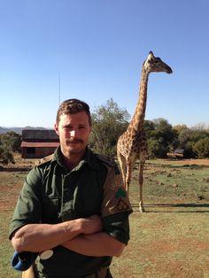 jamie dornan and a giraffe.