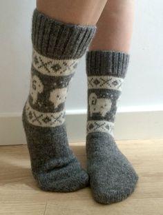 READY TO SHIP White Wool Socks With Sheep Ram Christmas Fair Isle Winter Scandinavian ojNwLejN