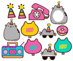 Pusheen the cat inspired Photo booth digital by DigitalPhotoBooth