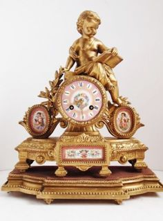 french porcelain clock