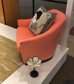 You know how much we love color... Our Cruise chair is sooo PRETTY in the #Shesuite #Trendwatch display in  Ultrasuede® sunset. #HPMKT #designonhpmkt