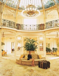 The palatial turn-of-the-century Hôtel Hermitage is one of Monte Carlo's signature properties. Here, the bling shines even brighter than the chandeliers. www.mirabellointeriors.com