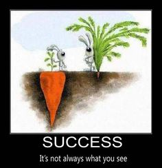 Success!  It's not always what you see.