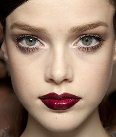 This red lip is amazing. http://www.pennypincherfashion.com/2011/09/runway-inspiration-gucci-fall-2011.html