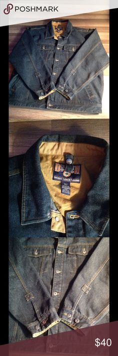Duluth Mens denim trucker work jacket denim EUC One small flaw on cuff of hand on one side. Bleach stain. This jacket was over $100 new last winter duluth trading co. Jackets & Coats