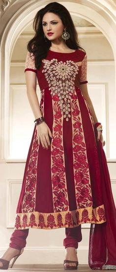 Buy Indian dresses online - the most fashionable Indian outfits for all occasions. Check out our new arrivals - the latest Indian clothes trending in Abaya Fashion, India Fashion, Women's Fashion Dresses, Casual Dresses, Fashion Women, Desi Clothes, Indian Clothes, Churidar, Salwar Kameez